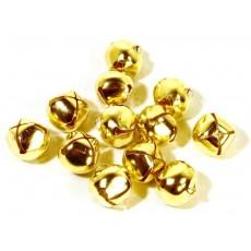 Cascabeles metálicos dorados