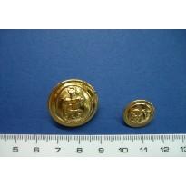 Botón marinero dorado